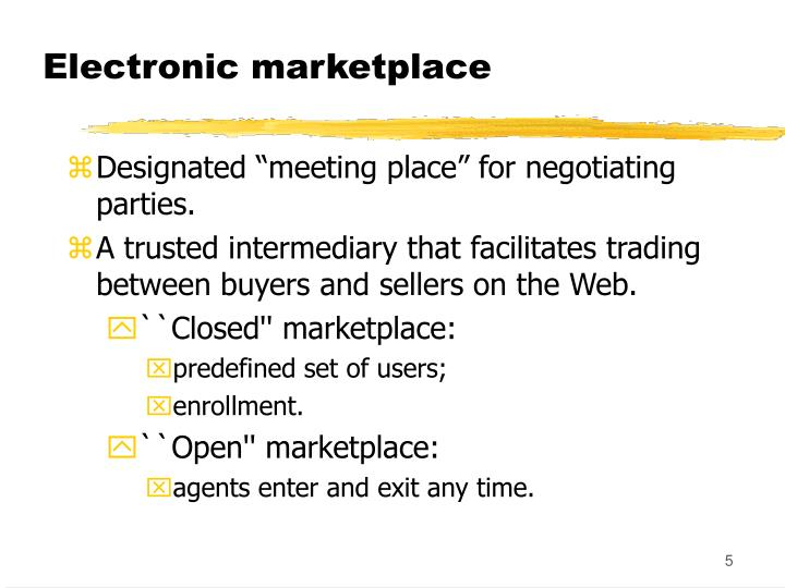 Electronic marketplace