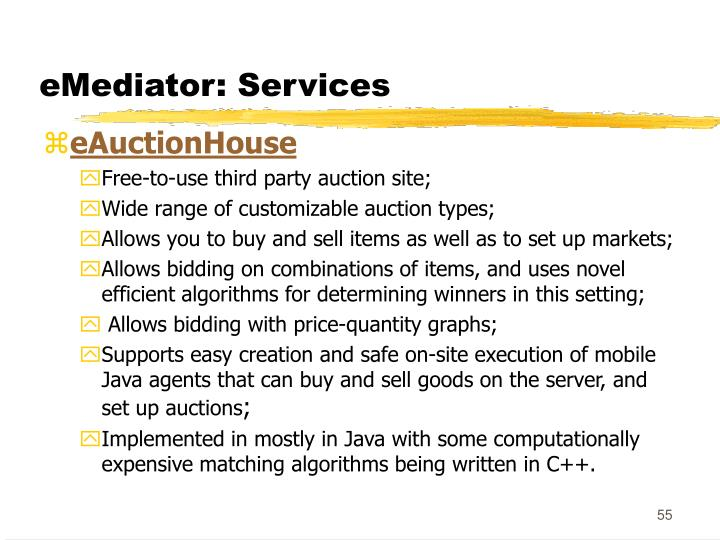 eMediator: Services