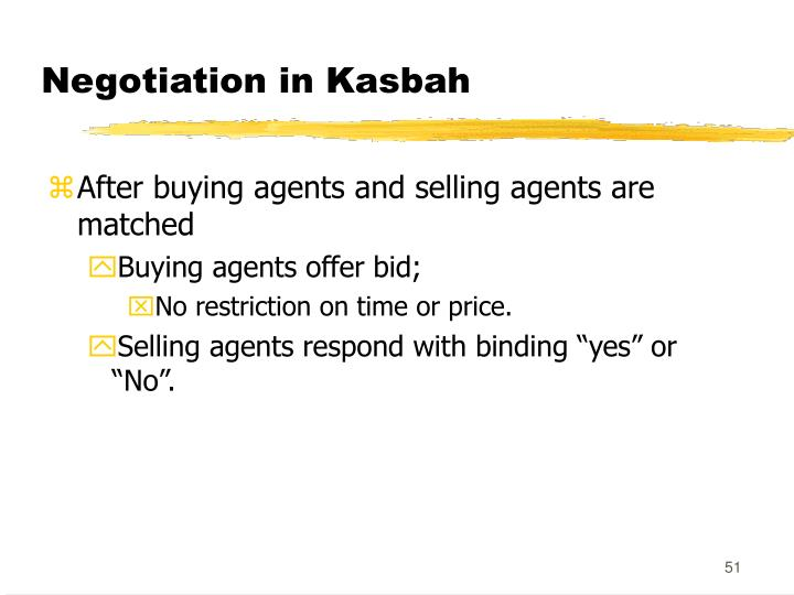 Negotiation in Kasbah