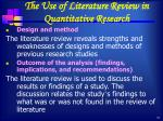 the use of literature review in quantitative research1