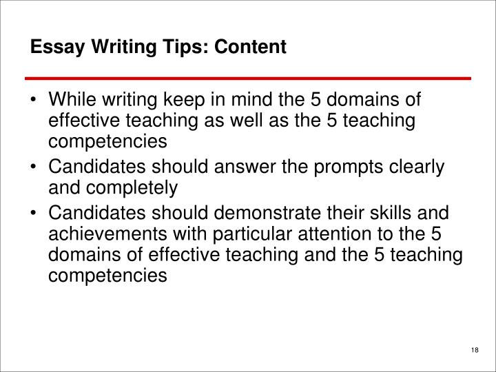 Essay Writing Tips: Content