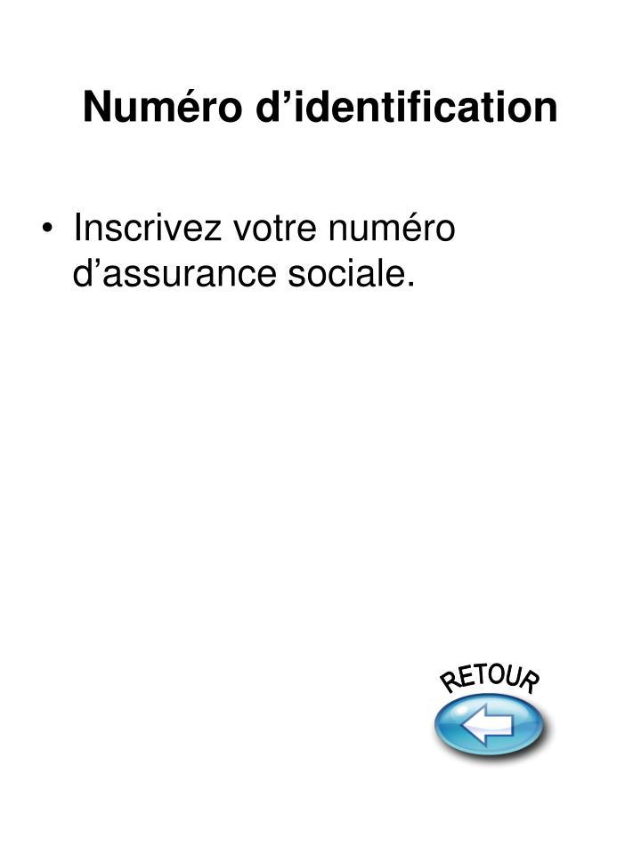 Numéro d'identification