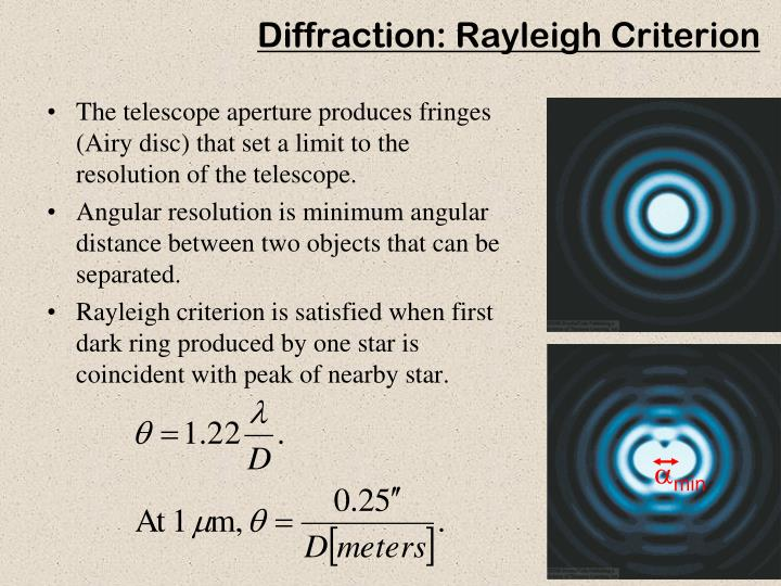 Diffraction: Rayleigh Criterion