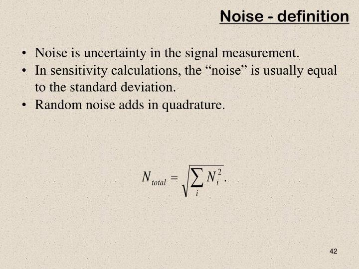 Noise - definition