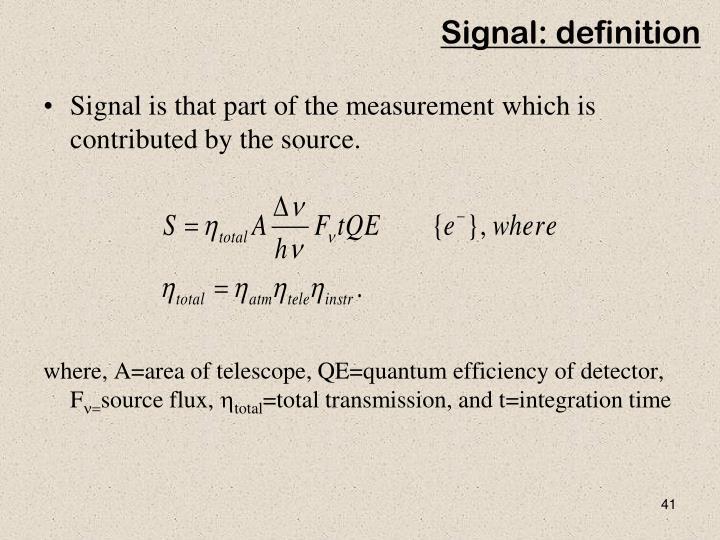 Signal: definition