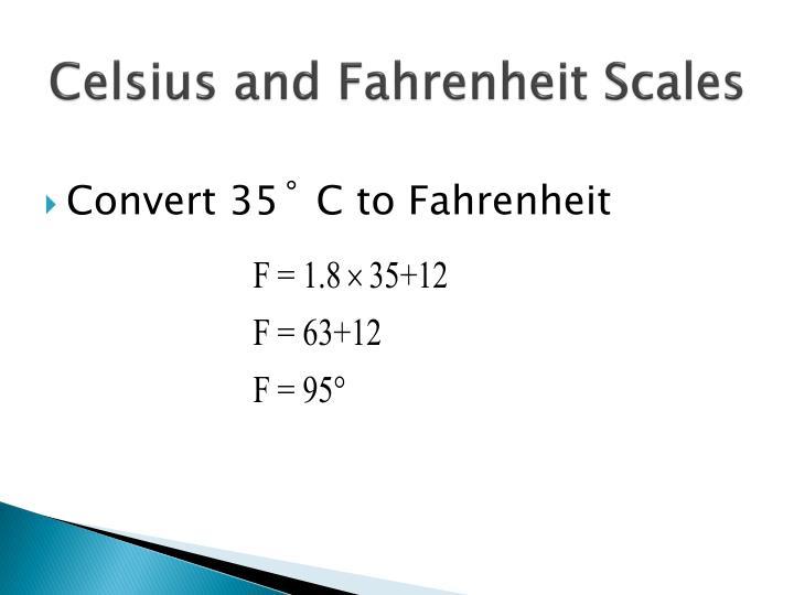 Celsius and Fahrenheit Scales