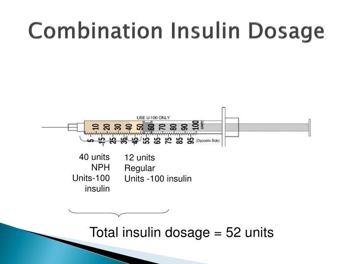 Combination Insulin Dosage