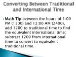 converting between traditional and international time2