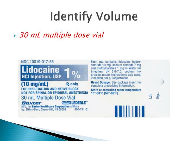 Identify Volume
