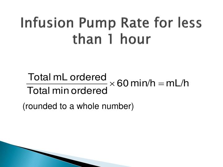 Infusion Pump Rate for