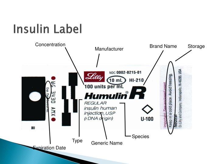 Insulin Label