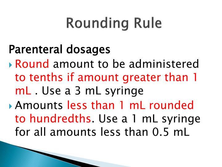 Rounding Rule