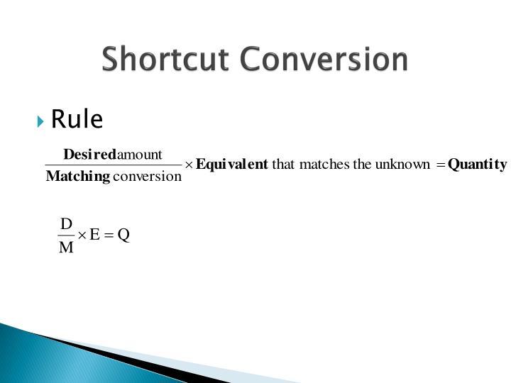 Shortcut Conversion