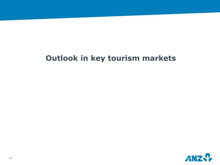 Outlook in key tourism markets