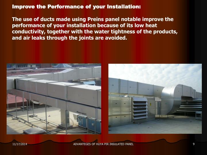 Improve the Performance of your Installation: