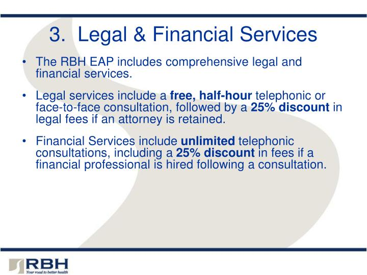 3.  Legal & Financial Services