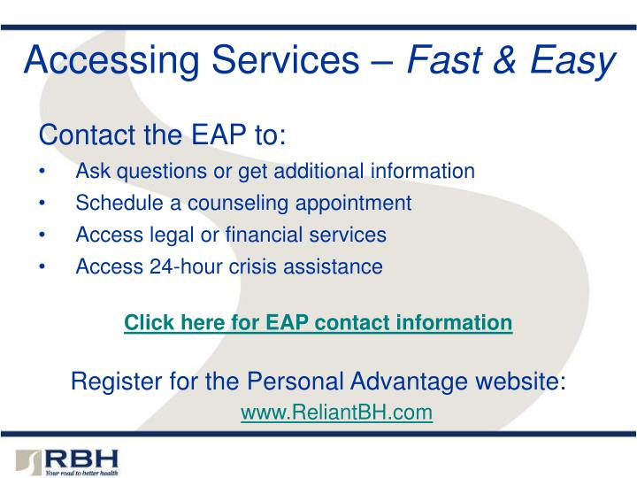 Accessing Services –