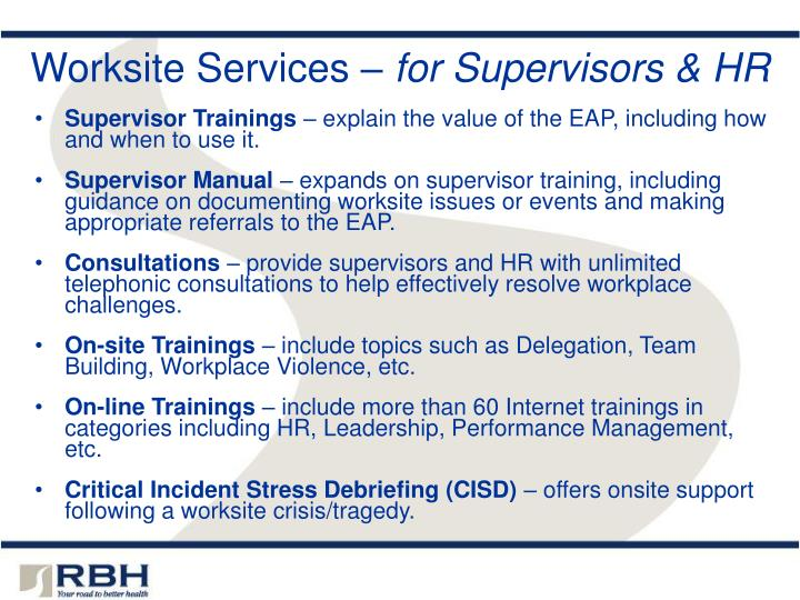 Worksite Services –