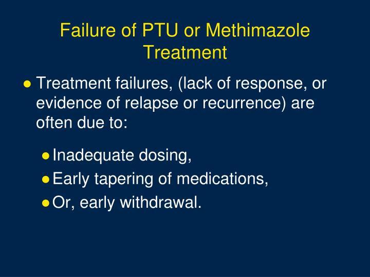 Failure of PTU or Methimazole Treatment