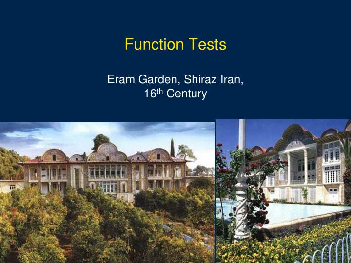 Function Tests