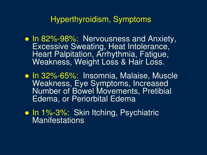Hyperthyroidism, Symptoms