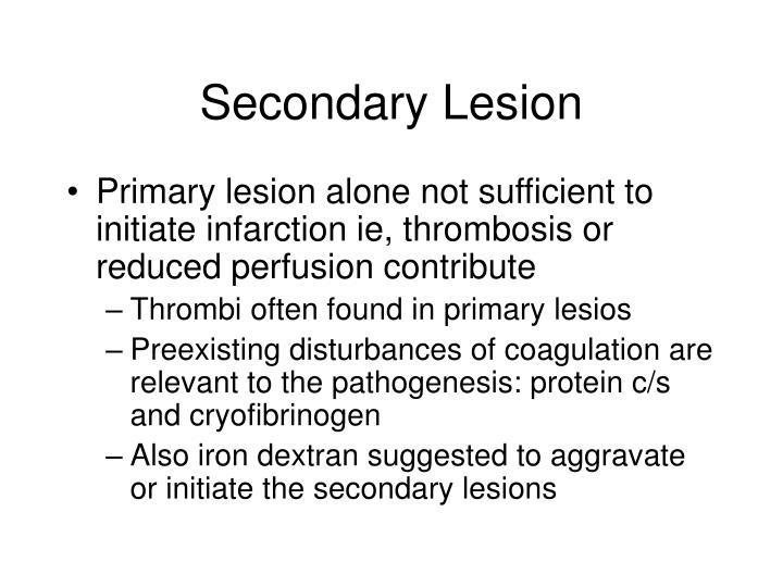 Secondary Lesion