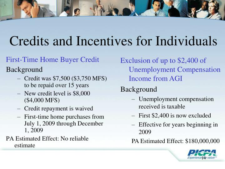 First-Time Home Buyer Credit