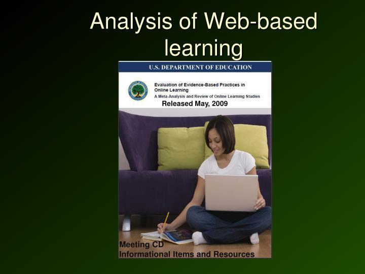 Analysis of Web-based learning