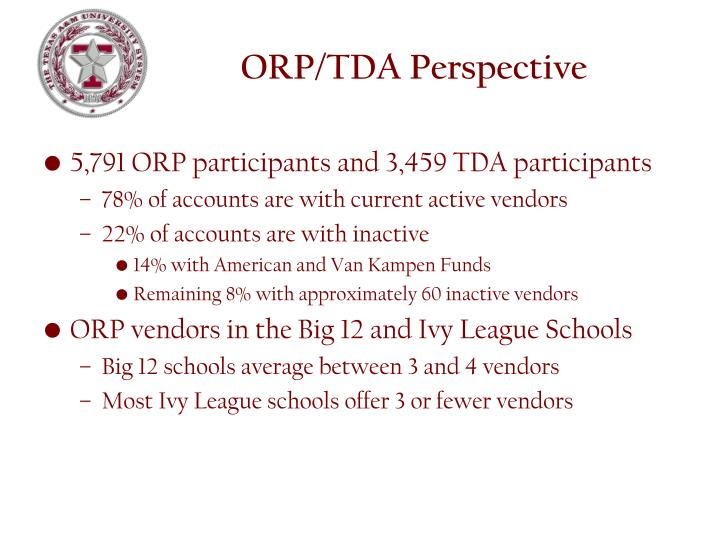 ORP/TDA Perspective