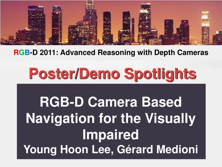 RGB-D Camera Based Navigation for the Visually Impaired