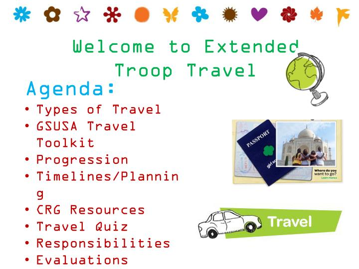 Welcome to Extended Troop Travel