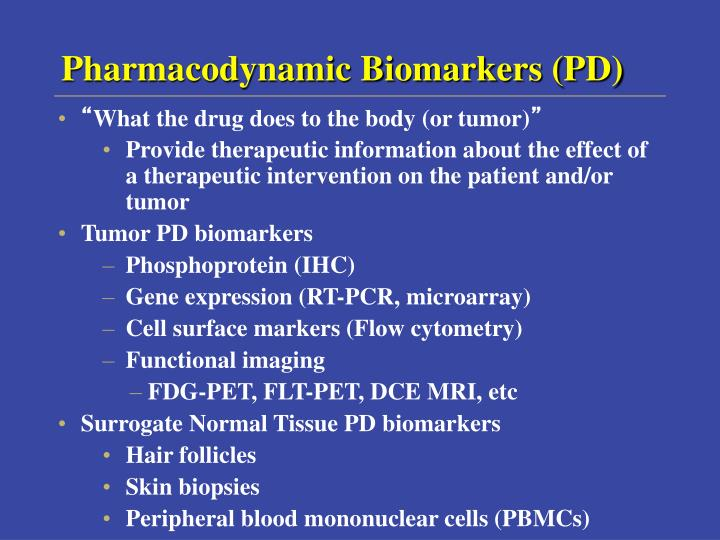Pharmacodynamic Biomarkers (PD)