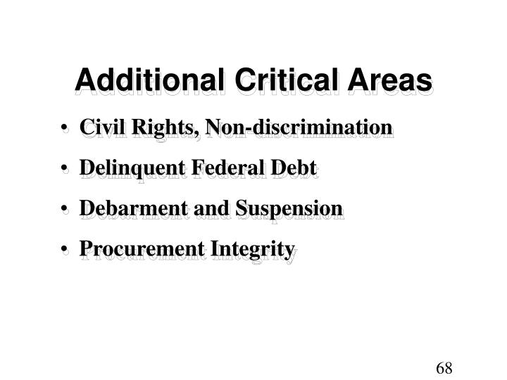 Additional Critical Areas