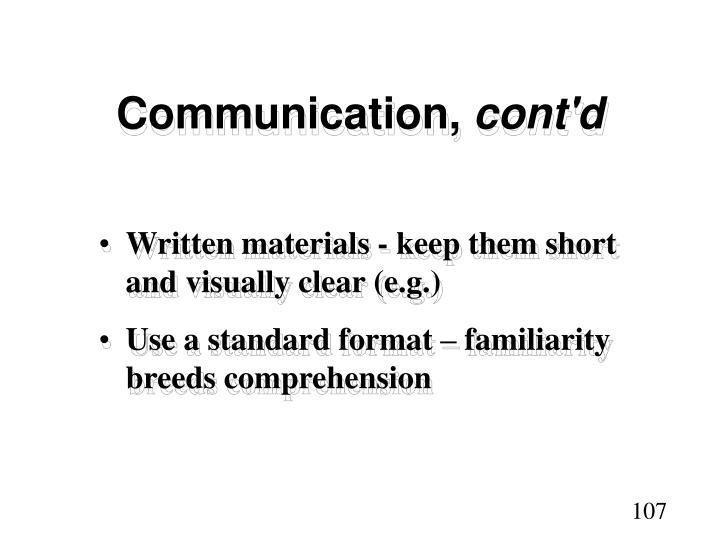 Communication,