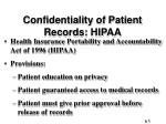confidentiality of patient records hipaa