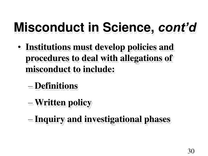 Misconduct in Science,