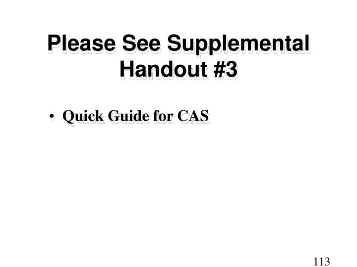 Please See Supplemental Handout #3