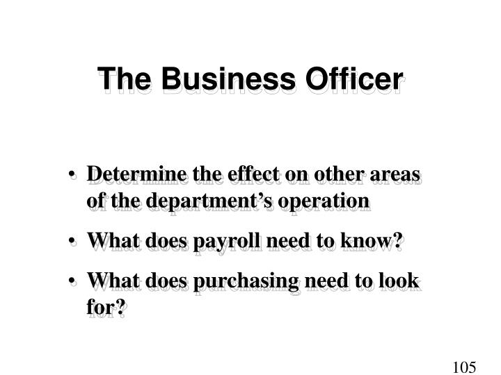 The Business Officer