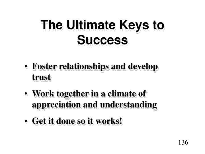 The Ultimate Keys to Success