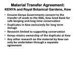 material transfer agreement kenya and royal botanical gardens kew