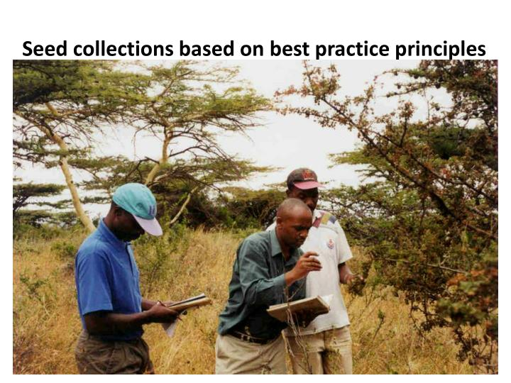 Seed collections based on best practice principles