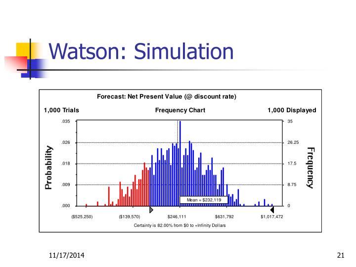 Watson: Simulation