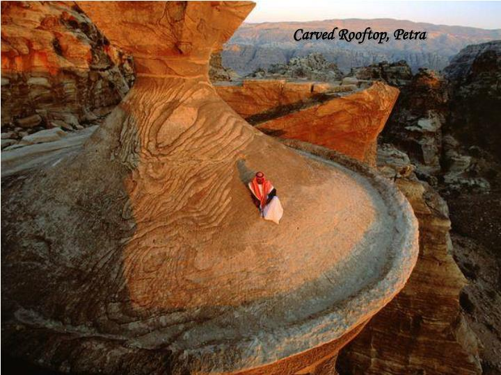 Carved Rooftop, Petra