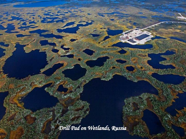 Drill Pad on Wetlands, Russia