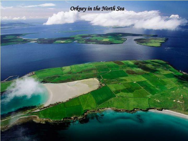 Orkney in the North Sea