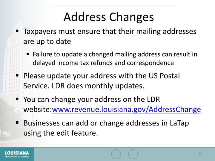 Address Changes