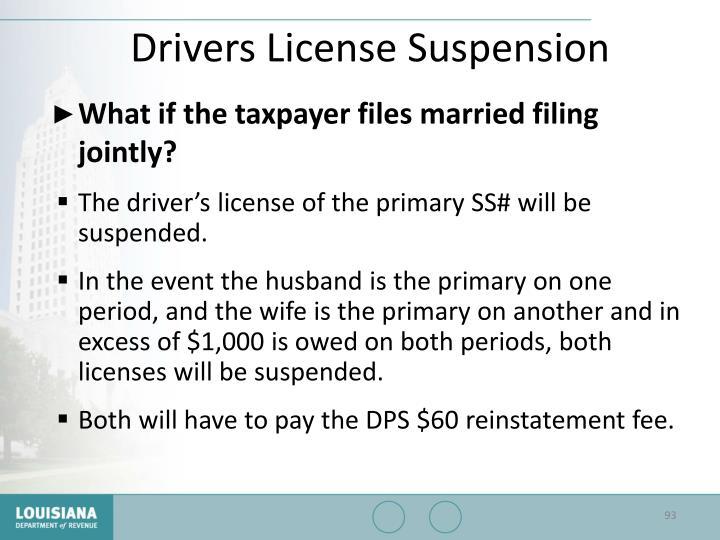 Drivers License Suspension
