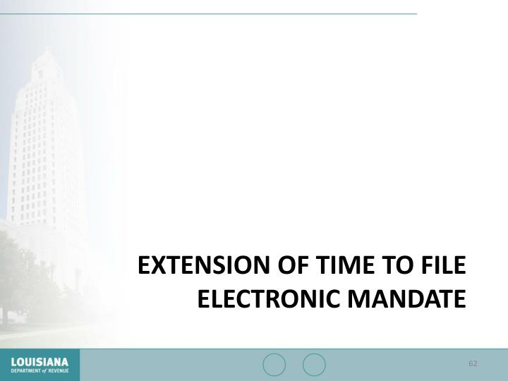 Extension of Time to File