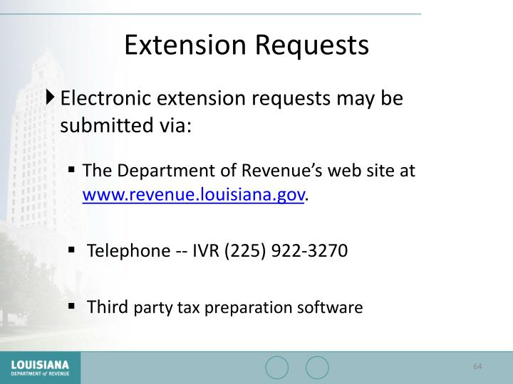 Extension Requests