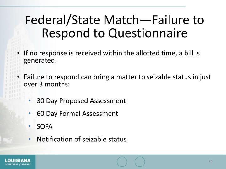 Federal/State Match